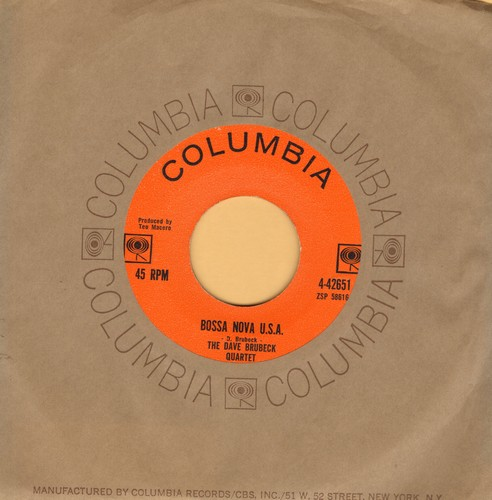 Brubeck, Dave Quartet - Bossa Nova U.S.A./This Can't Be Love (with Columbia company sleeve) - NM9/ - 45 rpm Records