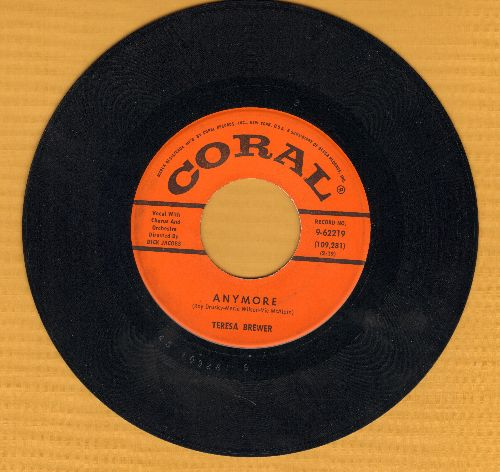 Brewer, Teresa - Anymore/That Piano Man  - EX8/ - 45 rpm Records