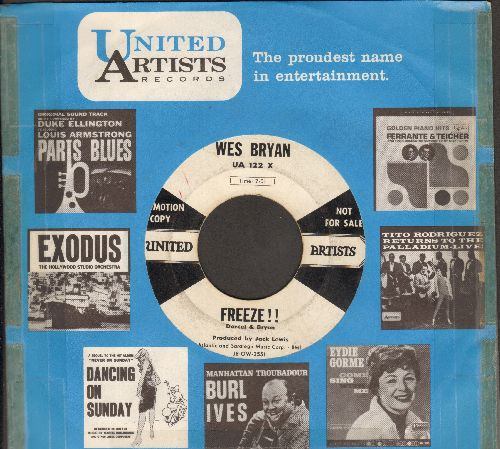 Bryan, Wes - Freeze!!/Wait For Me Baby (DJ advance pressing with United Artists company sleeve) - VG7/ - 45 rpm Records