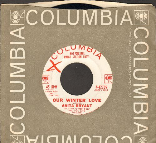 Bryant, Anita - Our Winter Love/Honest John (DJ advance pressing with Columbia company sleeve) - EX8/ - 45 rpm Records
