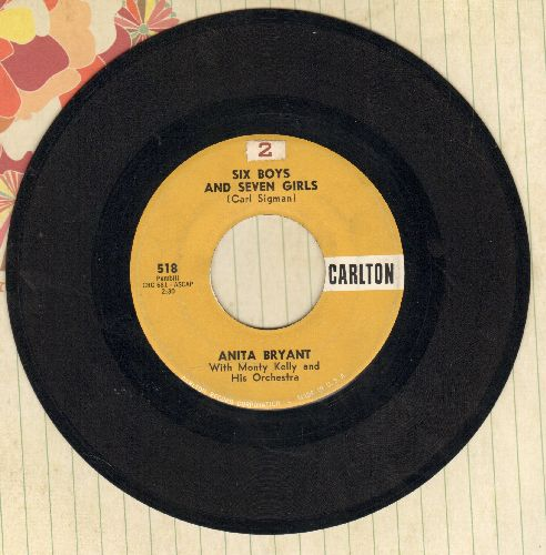 Bryant, Anita - Six Boys And Seven Girls/The Blessings Of Love - EX8/ - 45 rpm Records