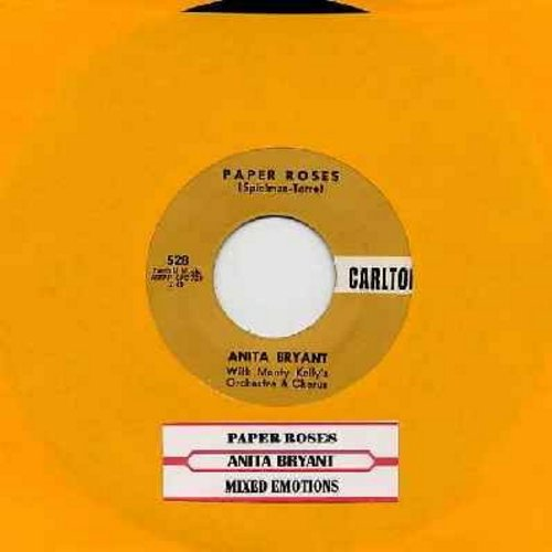 Bryant, Anita - Paper Roses/Mixed Emotions (first issue with juke box label) - EX8/ - 45 rpm Records