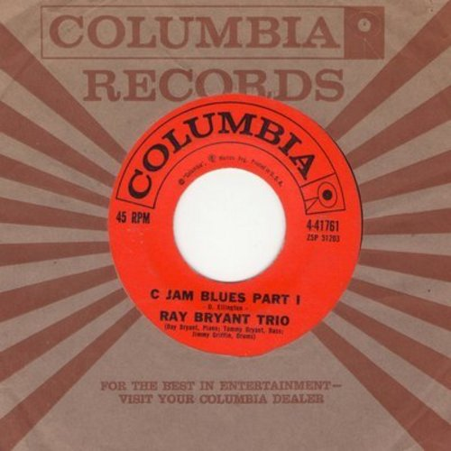 Bryant, Ray Trio - C Jam Blues (Parts 1 + 2) (with Columbia company sleeve) - NM9/ - 45 rpm Records