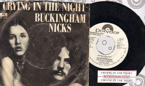 Buckingham-Nicks - Crying In The Night (RARE doubel-A-sided DJ advance pressing with juke box label and picture sleeve) - NM9/VG6 - 45 rpm Records
