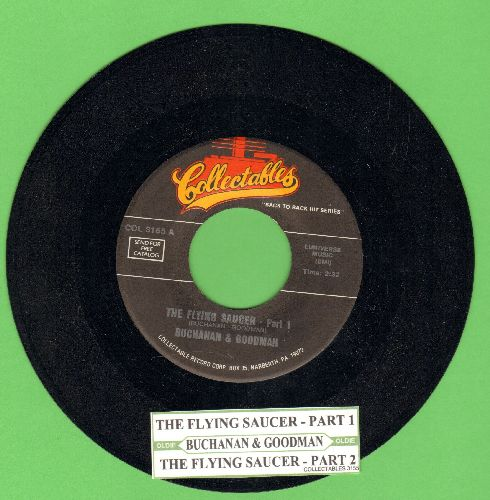 Buchanan & Goodman - The Flying Saycer (Parts 1+2) ('cut-in' novelty) (re-issue with juke box label) - NM9/ - 45 rpm Records
