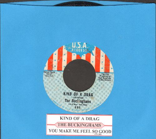 Buckinghams - Kind Of A Drag/You Make Me Feel So Good (with juke box label) - VG7/ - 45 rpm Records