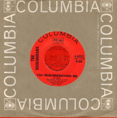 Buckinghams - Back In Love Again/You Misunderstand Me (with Columbia company sleeve) - EX8/ - 45 rpm Records