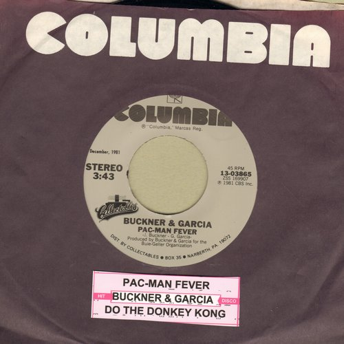 Buckner & Garcia - Pac-Man Fever/Do The Donkey Kong (re-issue with juke box label) - M10/ - 45 rpm Records