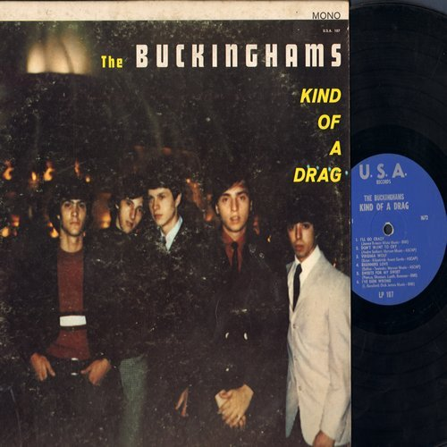 Buckinghams - Kind Of A Drag: I'll Go Crazy, I've Been Wrong, I Call Your Name, Summertime (Vinyl MONO LP record) - EX8/VG7 - LP Records