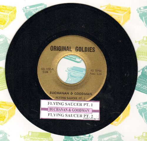 Buchanan & Goodman - The Flying Saycer (Parts 1+2) ('cut-in' novelty) (early re-issue with juke box label) - NM9/ - 45 rpm Records