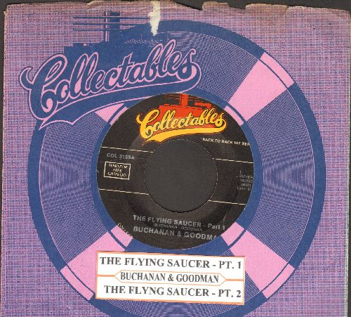 Buchanan & Goodman - The Flying Saycer (Parts 1+2) ('cut-in' novelty) (re-issue with juke box label and company sleeve) - NM9/ - 45 rpm Records