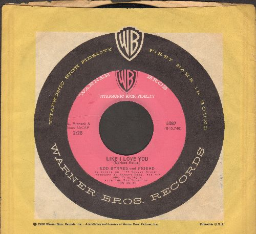 Byrnes, Edd & Friend - Kookie's Mad Pad/Like I Love You (with Warner Brothers company sleeve) - EX8/ - 45 rpm Records