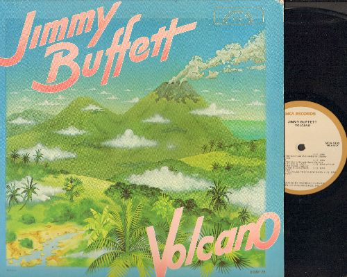 Buffett, Jimmy - Volcano: Fins, Boat Drinks, Dreamsicle, Sending The Old Man Home (vinyl LP record, gate-fold cover) - EX8/EX8 - LP Records