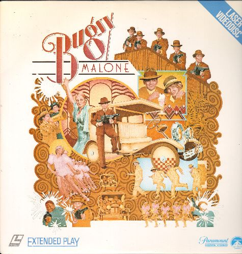 Bugsy Malone - Bugsy Malone - LASERDISC of the Musical Classic with a cast of youngsters including Jody Foster and Scott Bayo (This is a LASERDISC, not any other kind of media!) - NM9/NM9 - LaserDiscs