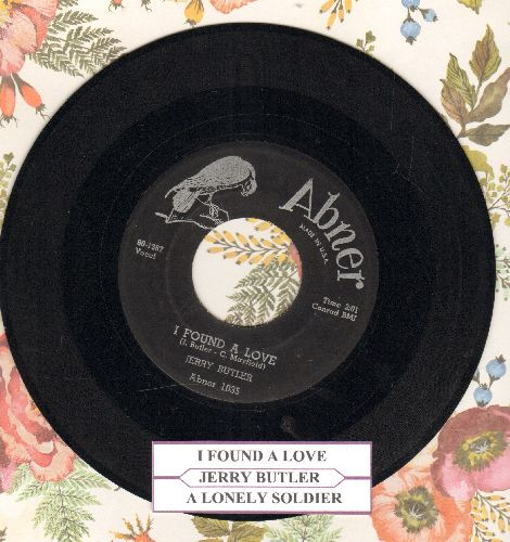 Butler, Jerry - A Lonely Soldier/I Found A Love (double-hit re-issue) - EX8/ - 45 rpm Records