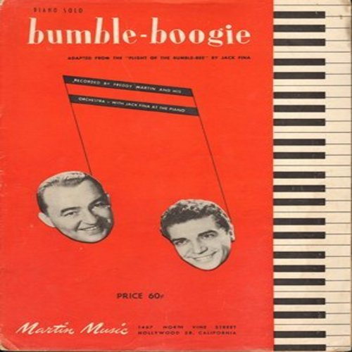 Martin, Freddy & His Orchestra - Bumble-Boogie - SHEET MUSIC for the adaptation of the -Flight Of The Bumble Bee- for piano solo (This is SHEET MUSIC, not any other kind of media) - EX8/ - Sheet Music