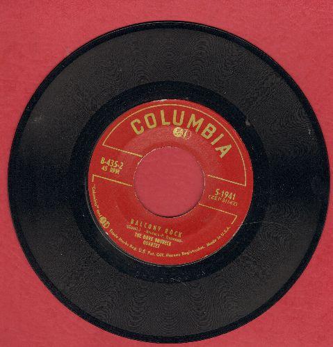 Brubeck, Dave Quartet - Balcony Rock/Out Of Nowhere - EX8/ - 45 rpm Records