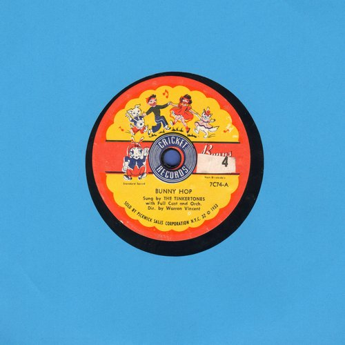 Tinytones - Bunny Hop/Mexican Hat Dance (7 inch 78rpm record with small spindle hole) - EX8/ - 78 rpm