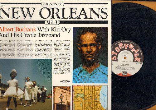 Burbank, Albert With Kid Ory & His Creole Jazzband - Sound Of New Orleans Vol. 3: Clarinet Marmalade, Fidgety Feet, Panama Rag, High Society, Darktown Strutter's Ball (vinyl LP record, gate-fold cover, 1988 issue of vintage 1954 Jazz recordings) - NM9/EX8