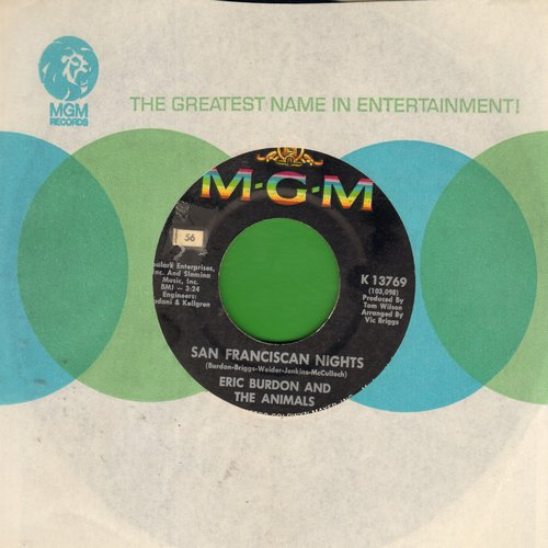 Burdon, Eric & The Animals - San Francisco Nights/Good Times - EX8/ - 45 rpm Records