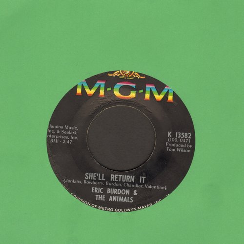 Burdon, Eric & The Animals - She'll Return It/See See Rider - EX8/ - 45 rpm Records
