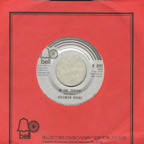 Burke, Solomon - In The Ghetto/God Knows I Love You (with Bell company sleeve) - EX8/ - 45 rpm Records