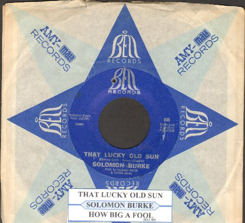Burke, Solomon - That Lucky Old Sun/How Big A Fool (Can A Fool Be)(bb)(with juke box label and company sleeve) - NM9/ - 45 rpm Records
