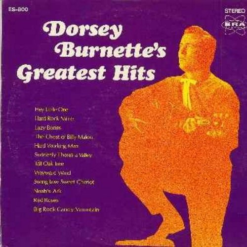 Burnette, Dorsey - Dorsey Burnette's Greatest Hits: Hey Little One, Tall Oak Tree, Wayward Wind, Swing Low Sweet Chariot, Noah's Ark, Lazy Bones, Hard Rock Mine (Vinyl STEREO LP record) - NM9/VG6 - LP Records