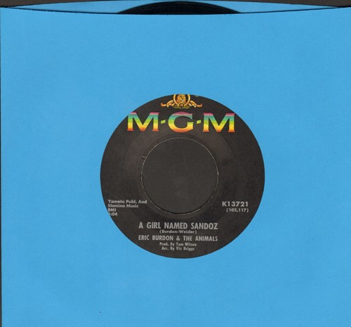 Burdon, Eric & The Animals - A Girl Named Sandoz/When I Was Young (bb) - VG7/ - 45 rpm Records