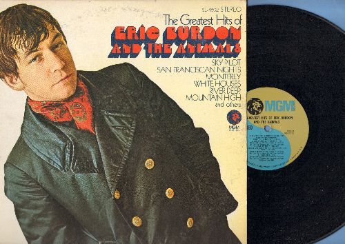 Burdon, Eric & The Animals - The Greatest Hits of Eric Burdon & The Animals: Monterey, San Francisco Nights, Sky Pilot, White Houses, To Love Somebody (vinyl LP record) - NM9/EX8 - LP Records