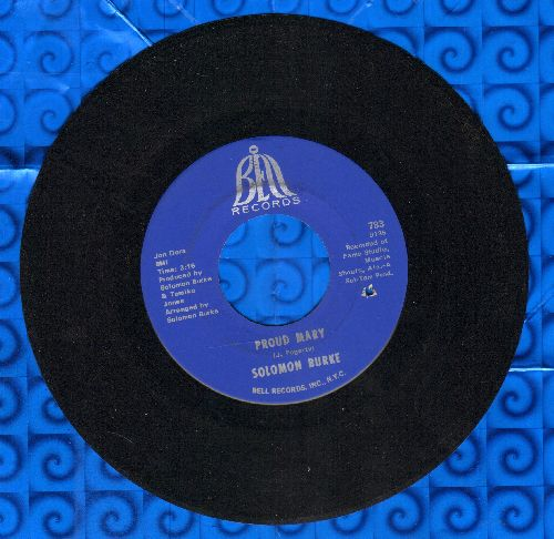 Burke, Solomon - Proud Mary/What Am I Living For (bb) - NM9/ - 45 rpm Records