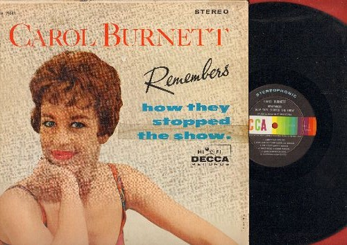 Burnett, Carol - Carol Burnett Remembers How They Stopped The Show: Sweet Georgia Brown, The Trolley Song, I Can't Say No, Blow Gabriel Blow, Ten Cents A Dance (Vinyl STEREO LP record) - NM9/VG6 - LP Records