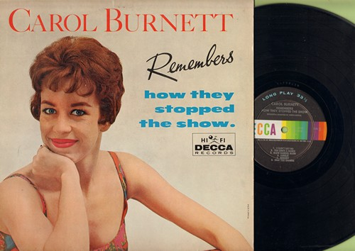 Burnett, Carol - Carol Burnett Remembers How They Stopped The Show: Johnny One Note, Sweet Georgia Brown, The Trolley Song, I Can't Say No, Blow Gabriel Blow, Ten Cents A Dance (Vinyl MONO LP record) - EX8/EX8 - LP Records