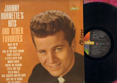 Burnette, Johnny - Johnny Burnette's Hits and other Favorites: Dreamin', Girl Of My Best Friend, You're Sixteen, God Country And My Baby, Big Big Wolrd, Just Out Of Reach (Stereo vinyl LP record) - NM9/VG7 - LP Records