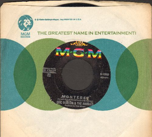 Burdon, Eric & The Animals - Monterey/Ain't It So (with MGM company sleeve) - NM9/ - 45 rpm Records