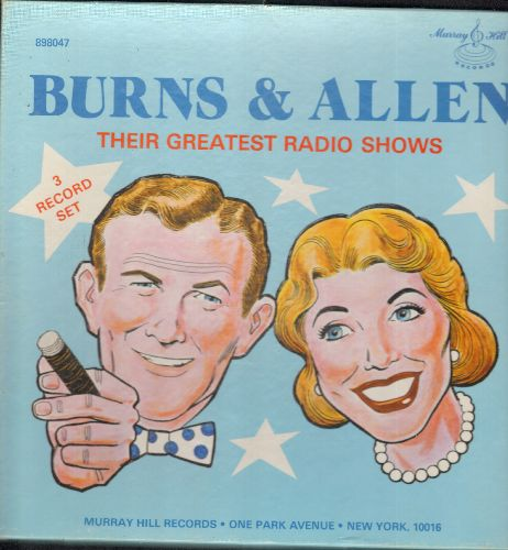 Burns, George & Gracie Allen - Burns & Allen - Their Greatest Radio Shows, 3 vinyl LP records Box Set - NM9/EX8 - LP Records