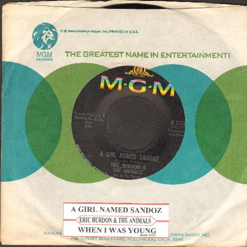 Burdon, Eric & The Animals - A Girl Named Sandoz/When I Was Young (with MGM company sleeve)(bb) - M10/ - 45 rpm Records