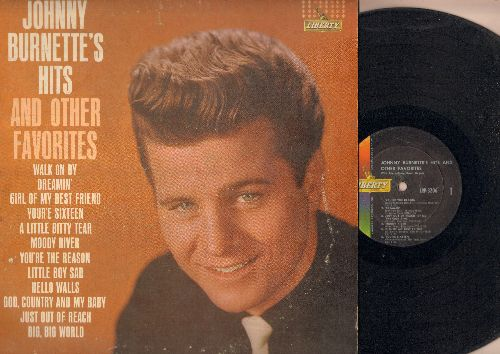 Burnette, Johnny - Johnny Burnette's Hits and other Favorites: Dreamin', Girl Of My Best Friend, You're Sixteen, God Country And My Baby, Big Big Wolrd, Just Out Of Reach (vinyl MONO LP record) - VG&/VG6 - LP Records