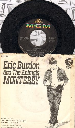 Burdon, Eric & The Animals - Monterey/Ain't It So (with picture sleeve) - NM9/VG6 - 45 rpm Records