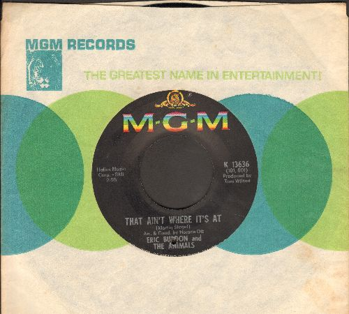 Burdon, Eric & The Animals - That Ain't Where It's At/Help Me Girl (with MGM company sleeve) (bb) - EX8/ - 45 rpm Records