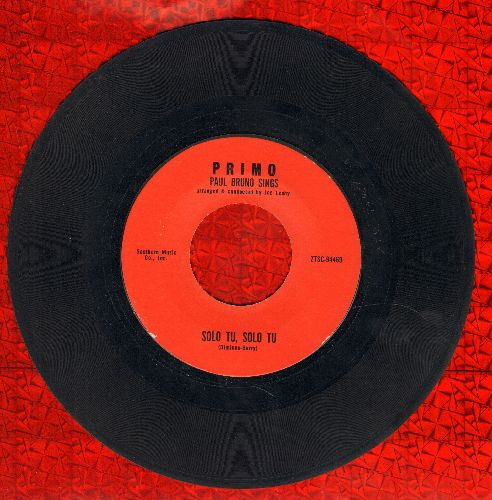 Bruno, Paul - Solo Tu, Solo Tu/Cruisin Down The River - EX8/ - 45 rpm Records
