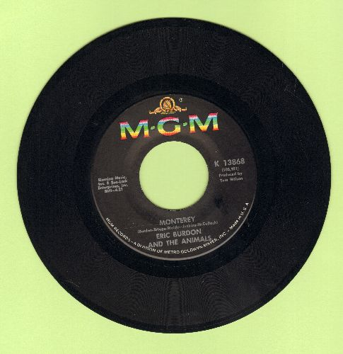 Burdon, Eric & The Animals - Monterey/Ain't It So (bb) - VG7/ - 45 rpm Records