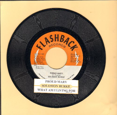 Burke, Solomon - Proud Mary/What Am I Living For (re-issue with juke box label) - NM9/ - 45 rpm Records