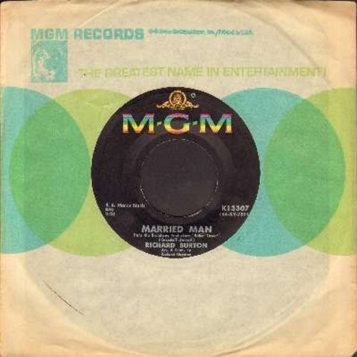 Burton, Richard - Married Man/Finding Words For Spring (with MGM company sleeve) - EX8/ - 45 rpm Records
