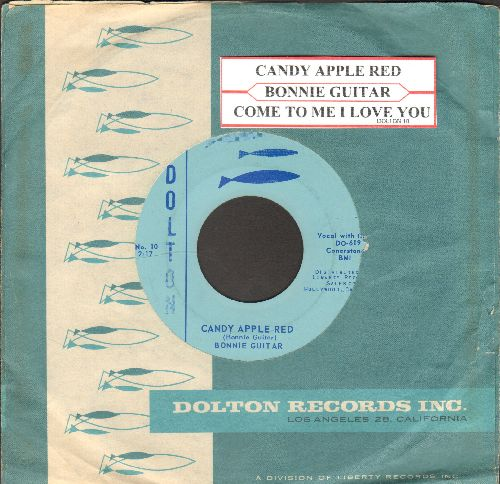 Guitar, Bonnie - Candy Apple Red/Come To Me I Love You (with RARE vintage Dolton company sleeve and juke box label) - NM9/ - 45 rpm Records