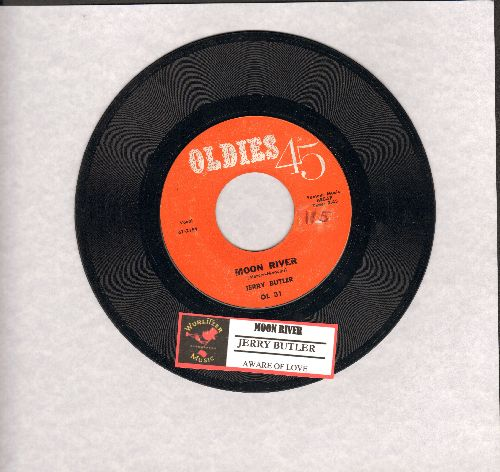 Butler, Jerry - Moon River/Aware Of Love (double-hit re-issue with juke box label) - NM9/ - 45 rpm Records