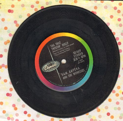 Butera, Sam & The Witnesses - Tag That Twistin' Dolly/Twistin' The Blues (RARE 7 inch 33rpm record with small spindle hole) - VG7/ - 45 rpm Records