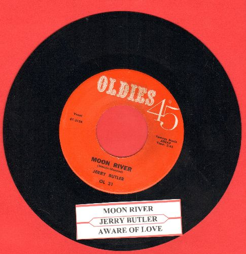 Butler, Jerry - Moon River/Aware Of Love (MINT condition early double-hit re-issue with juke box label) - M10/ - 45 rpm Records