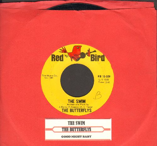 Butterflys - The Swim/Good Night Baby (with juke box label) (bb) - EX8/ - 45 rpm Records