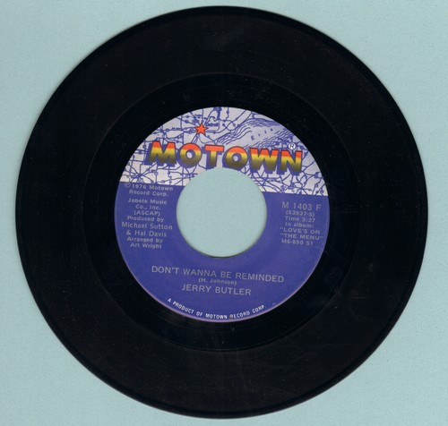 Butler, Jerry - Don't Wanna Be Reminded/The Devil In Mrs. Jones - NM9/ - 45 rpm Records